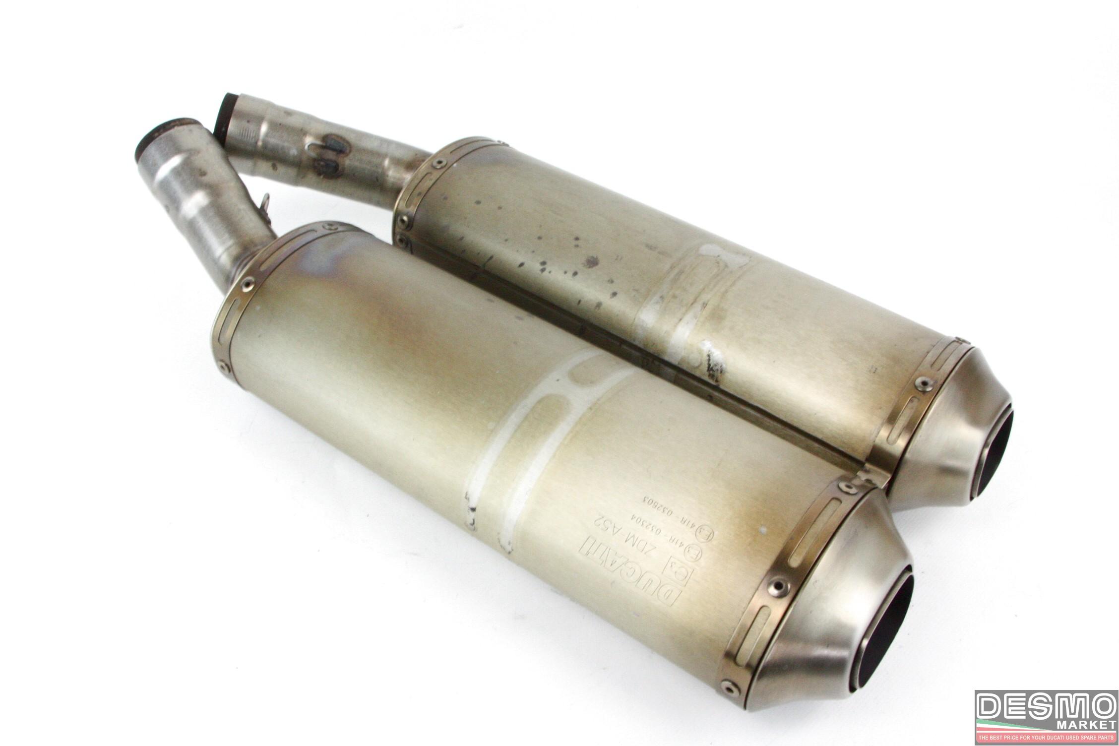Original Ducati Exhaust Silencers 848 1098 Desmo Market 748 Fuel Pump Wiring