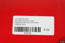 convogliatori d'aria fianchetti serbatoio Ducati Multistrada 950 anno 2017/2019 (staffetta rotta)