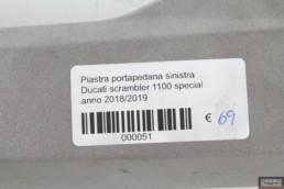 Piastra portapedana sinistra Ducati scrambler 1100 special anno 2018/2019
