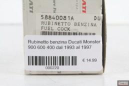 Rubinetto benzina ducati Monster 900 600 400 dal 1993 al 1997