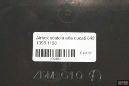 Airbox scatola aria ducati 848 1098 1198