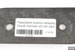 Paracalore scarico carbonio Ducati monster s2r s4r s4rs