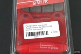 Pastiglie freno sinterizzate Ducati monster dal 2000 al 2008 sbk 748 916 996 998