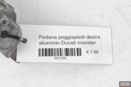 Pedana poggiapiedi destra alluminio Ducati monster