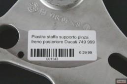 Piastra staffa supporto pinza freno posteriore Ducati 749 999
