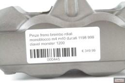 Pinze freno brembo rdiali monoblocco m4 m40 ducati 1198 999 diavel monster 1200