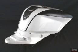 Serbatoio carburante plastica bianco ducati 848 1098 1198