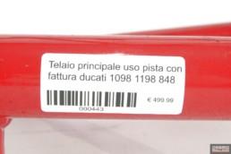 Telaio principale uso pista con fattura ducati 1098 1198 848