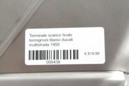 Terminale scarico finale termignoni titanio ducati multistrada 950 1200 Enduro omologato