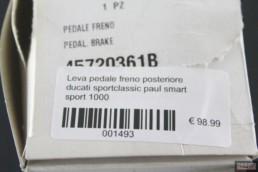 Leva pedale freno posteriore ducati sportclassic paul smart sport 1000