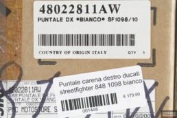 Puntale carena destro ducati streetfighter 848 1098 bianco