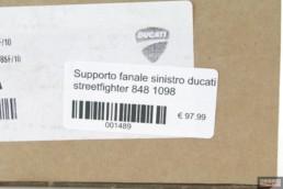 Supporto fanale sinistro ducati streetfighter 848 1098