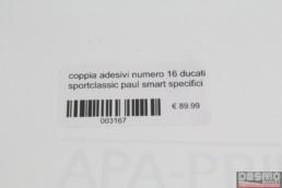 adesivi numero 16 ducati sportclassic paul smart specifici