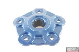 flangia porta corona ergal blu CNC ducati monster S2R S4R S4RS