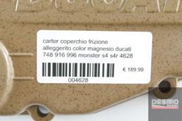 carter coperchio frizione alleggerito color magnesio ducati 748 916 996 monster s4 s4r 4628