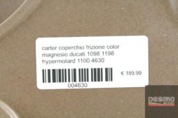 carter coperchio frizione color magnesio ducati 1098 1198 hypermotard 1100 4630