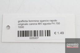 graffetta femmina sgancio rapido originale carena MV agusta F4 750 1000