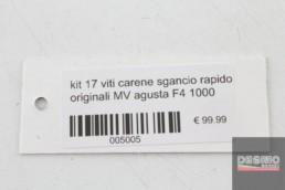 kit 17 viti carene sgancio rapido originali MV agusta F4 1000