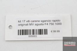 kit 17 viti carene sgancio rapido originali MV agusta F4 750 1000