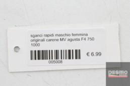 sganci rapidi maschio femmina originali carene MV agusta F4 750 1000