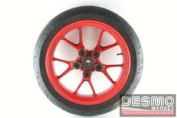 Cerchio ruota posteriore rossa ducati 749 999