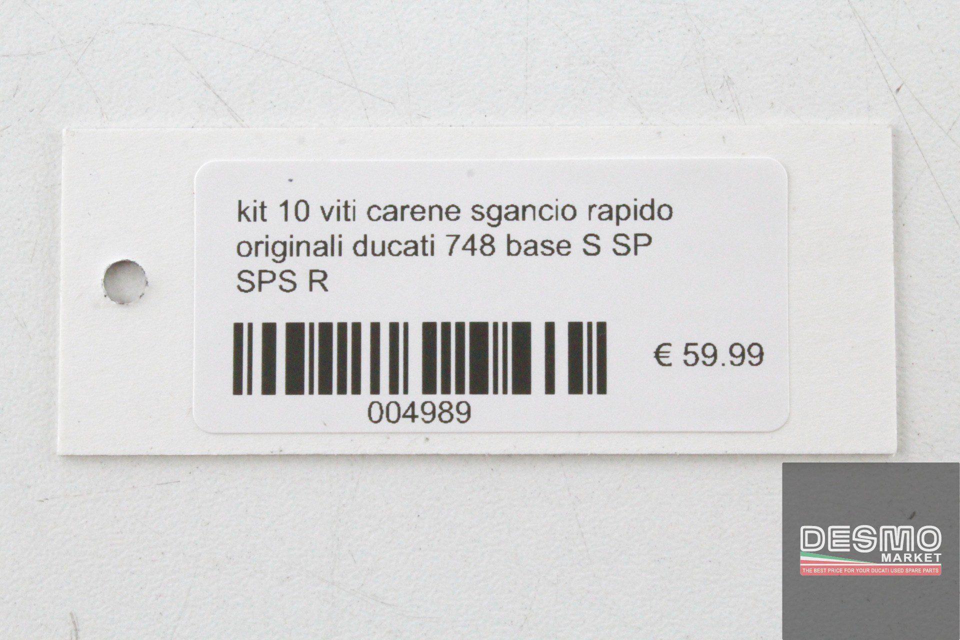 124PCS nero carenatura kit di bulloni di fissaggio a vite per Ducati paso 750/906/907/88/89/90/91/92