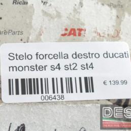 Stelo forcella destro ducati monster s4 st2 st4