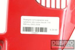 Triangolo convogliatore aria radiatore olio rosso ducati 749 999 my 2002 2004