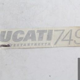 Adesivo decal ducati 749 testastretta