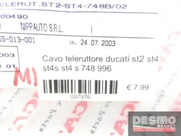 Cavo teleruttore ducati st2 st4 st4s st4 s 748 996