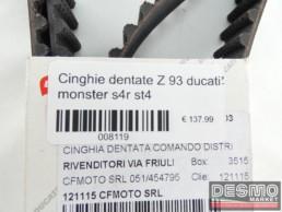 Cinghie dentate Z 93 ducati monster s4r st4