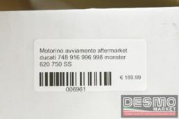 Motorino avviamento ducati 748 916 996 998 monster 620 750 SS