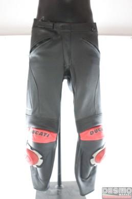 Pantaloni tuta divisibile pelle neri ducati performance Dainese