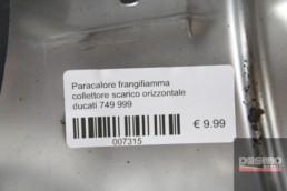 Paracalore frangifiamma collettore scarico orizzontale ducati 749 999