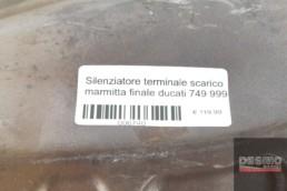 Silenziatore terminale scarico marmitta finale ducati 749 999
