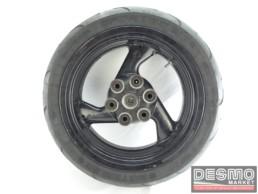 Cerchio ruota posteriore 3 razze ducati monster 600 750 900 my 1993 1999