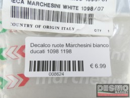 Decalco ruote Marchesini bianco ducati 1098 1198