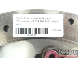 Dischi freno anteriore flottanti 320 mm ducati 749 999 848 monster s4rs