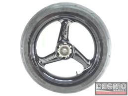 Cerchio anteriore nero tre razze ducati 748 916 996 998