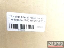 Kit valige laterali rosse ducati multistrada 1200 MY 2010 2014