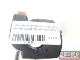 Blocchetto commutatore devio luci destro ducati monster 900 748 916