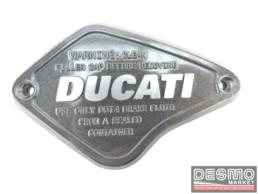 Coperchio cover pompa freno CNC ducati performance ducati diavel