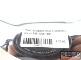 Plexi plexiglass rosso a specchio ducati 848 1098 1198