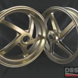 Cerchi ruote magnesio Marchesini oro 5 razze ducati 748 916 996 998