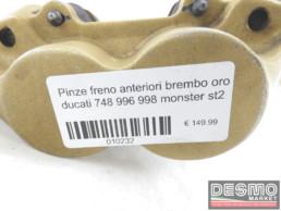 Pinze freno anteriori brembo oro ducati 748 996 998 monster st2