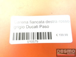 Carena fiancata destra rosso grigio Ducati Paso