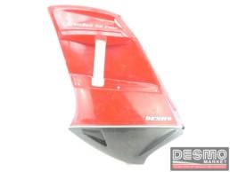 Carena fiancata sinistra rosso grigio Ducati Paso