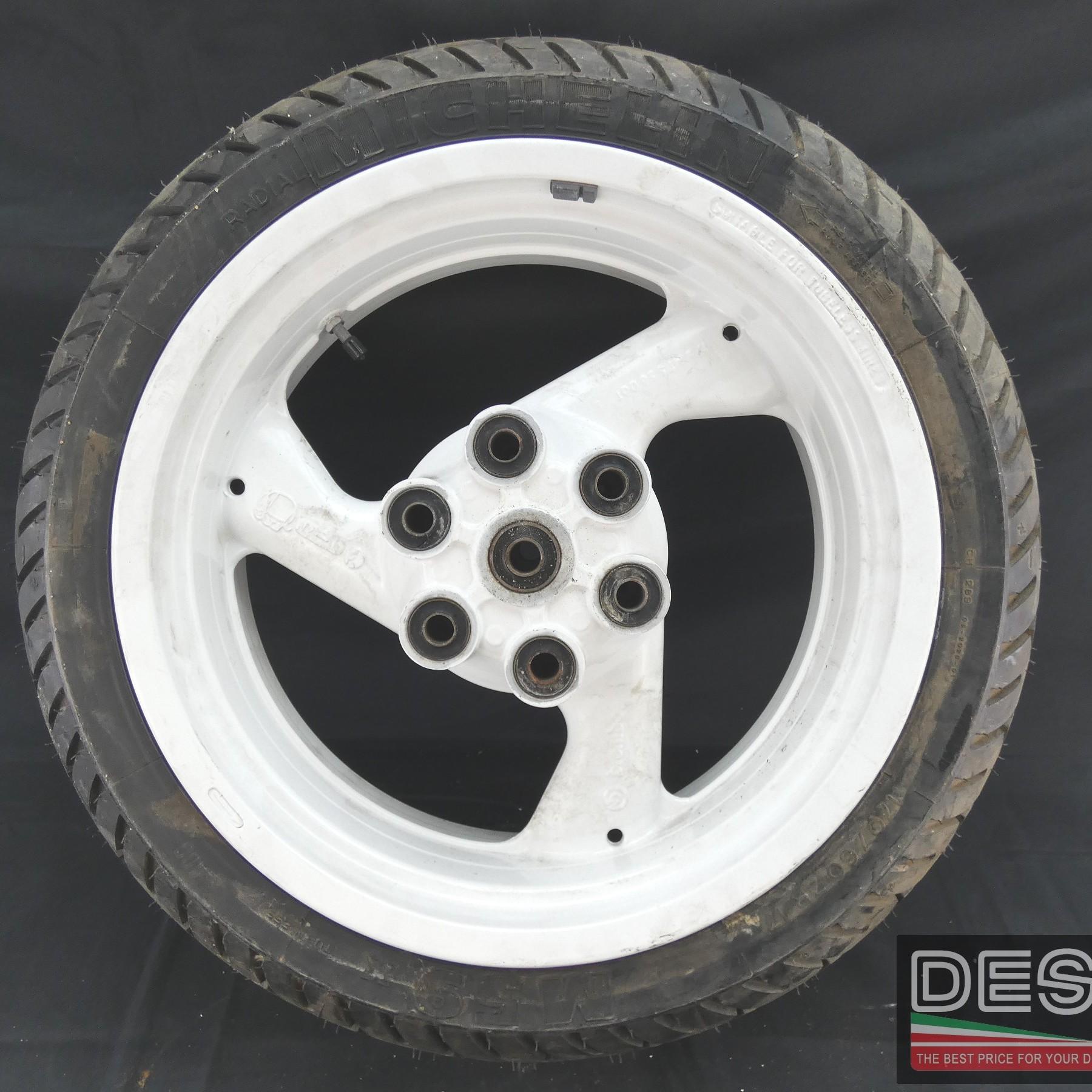 Cerchio Brembo bianco tre razze 5,5 x 17 Ducati Supersport 900 MY 91