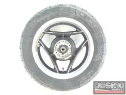 Cerchio Oscam 3,75 x 15 nero canale diamantato Ducati Paso
