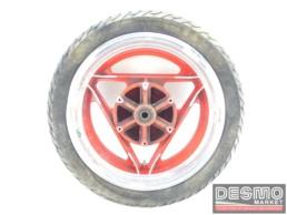 Cerchio Oscam 5 x 16 rosso canale diamantato Ducati Paso